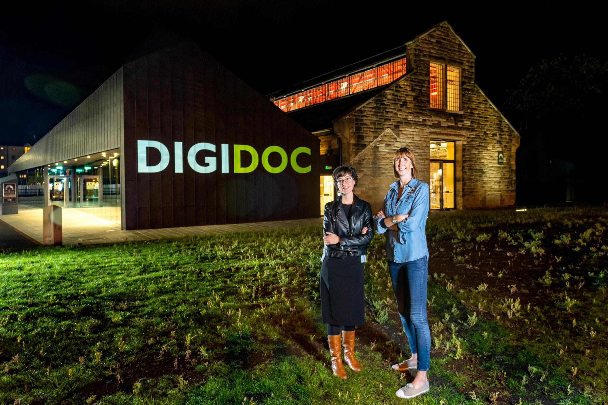 DigiDoc project manager, Clara Molina Sanchez, left, and technical outreach and education manager at the Engine Shed, Dorothy Hoskins