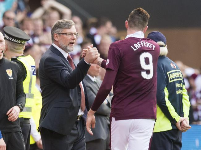 Craig Levein is well aware of the threat that Kyle Lafferty could pose to his Hearts team today.