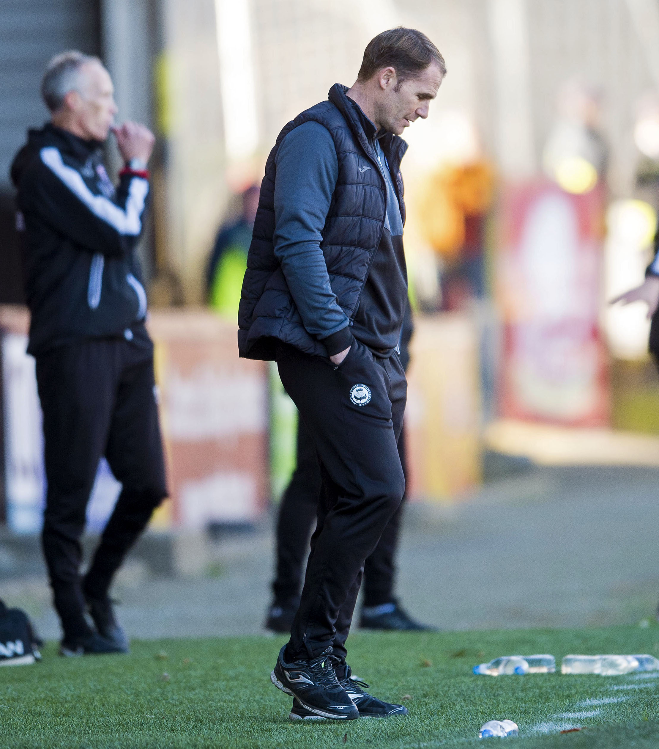 06/10/18 LADBROKES CHAMPIONSHIP PARTICK THISTLE V ROSS COUNTY (0-2) THE ENERGY CHECK STADIUM AT FIRHILL - GLASGOW Partick Thistle manager Alan Archibald looking dejected