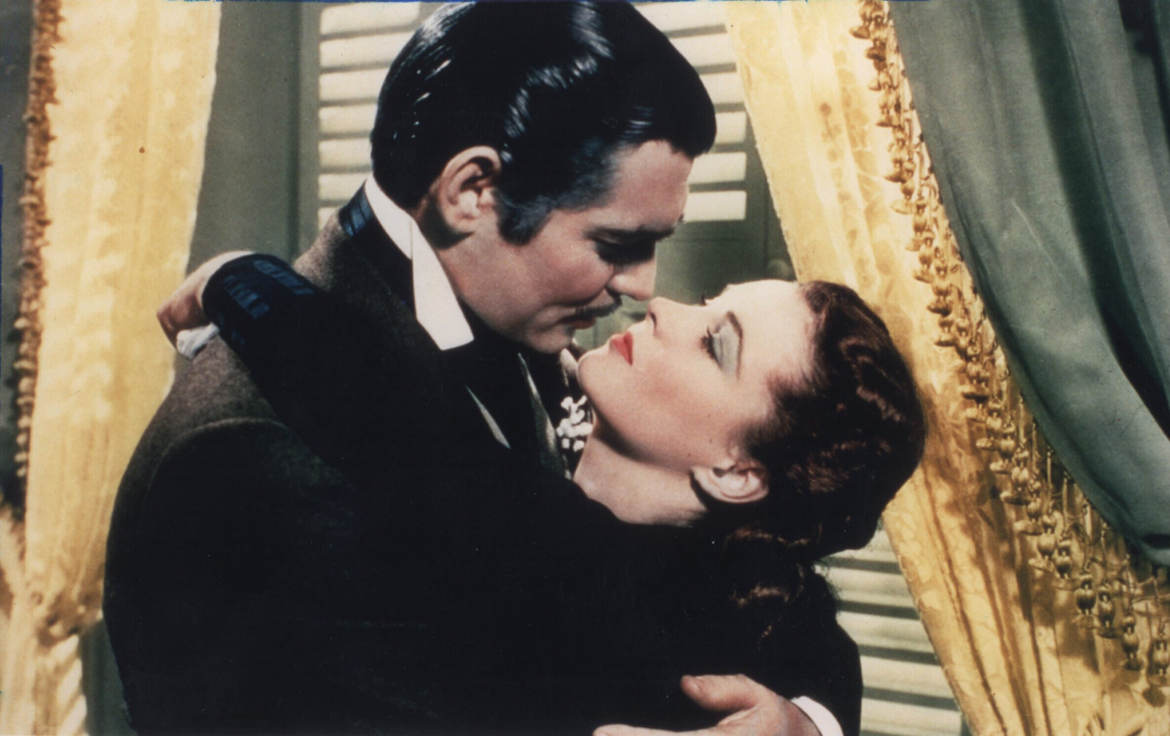 CLARK GABLE AND VIVIEN LEIGH IN GONE WITH WITH THE WIND FROM 1939