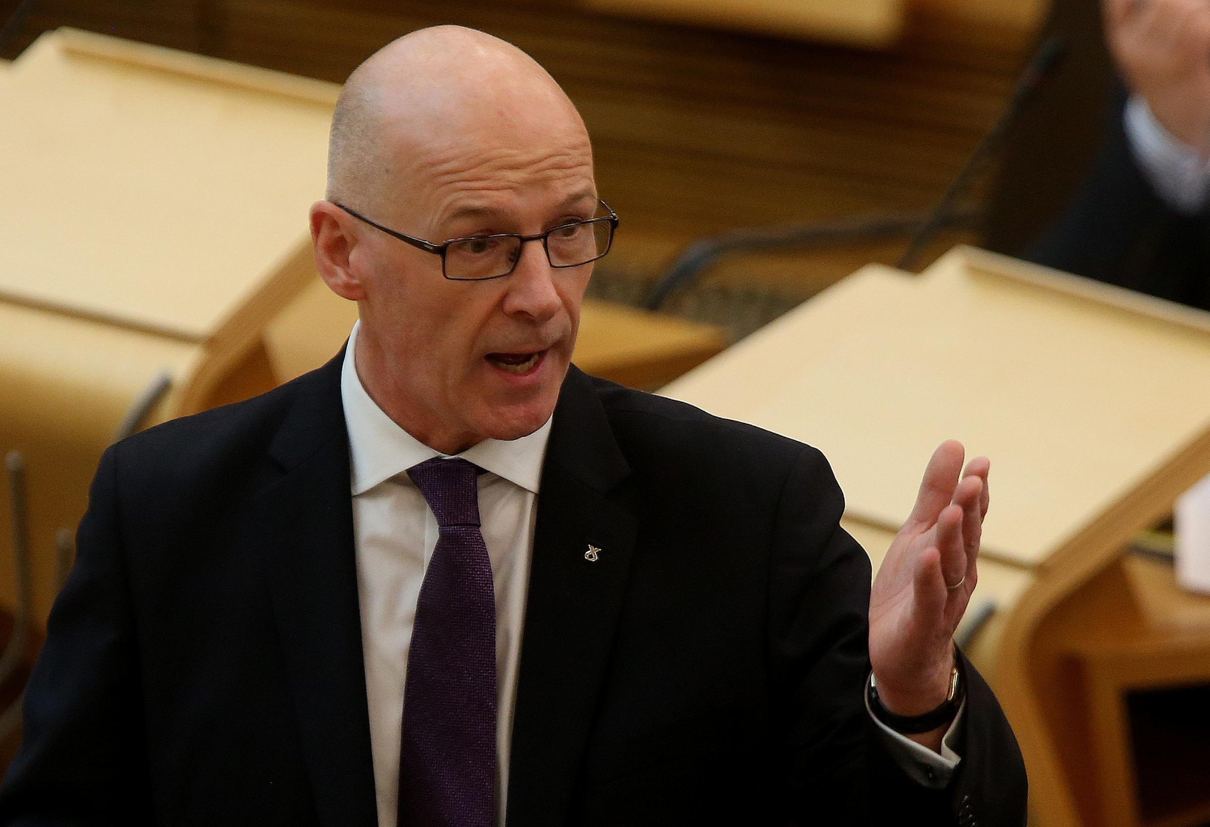John Swinney revealed he was not considering grants from central government for music tuition