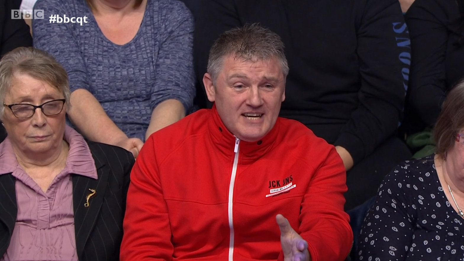 Audience member Billy Mitchell attacked the SNP's push for independence